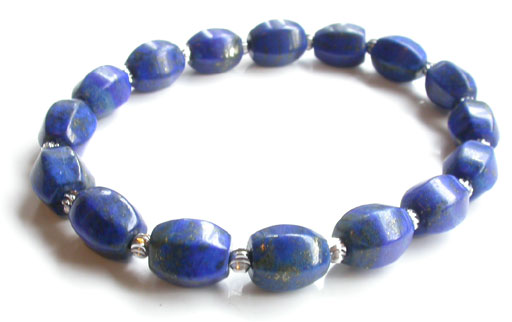 Lapis and Silver Nefertiti Bracelet