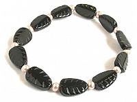 Black Agate and Pearl Bracelet