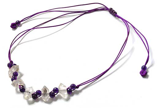 Amethyst with Herkimon Daimond Necklace