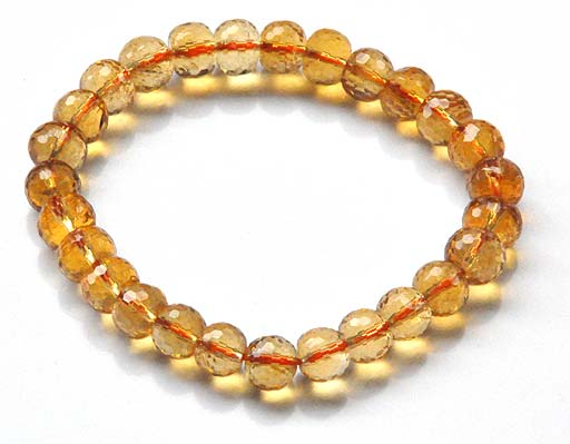 Citrine Faceted Beads Bracelet