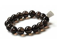 Smoky Quartz 14mm Bracelet