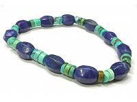 Lapis and Turquoise Bead Bracelet