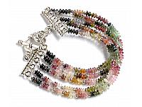 Tourmaline five Strands Bracelet