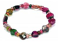 Genuine Tourmaline AAA heart-shaped faceted bracelet