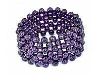 Amethyst Faceted Beads Bracelet