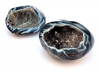 Black lace Agate Geode