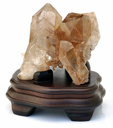 Rutilated Quartz Cluster