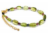 Peridot and Tourmaline Bracelet