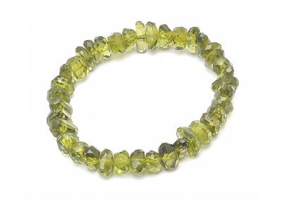 Peridot Faceted Beads Bracelet