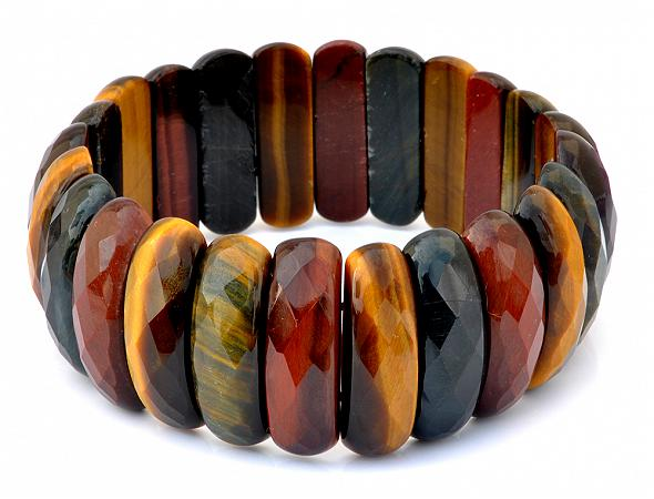 Tiger Eye Faceted Lamel Bracelet