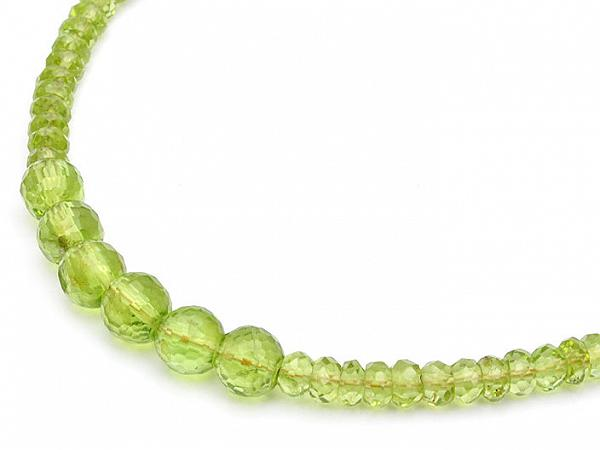 Peridot Faceted Beads Necklace