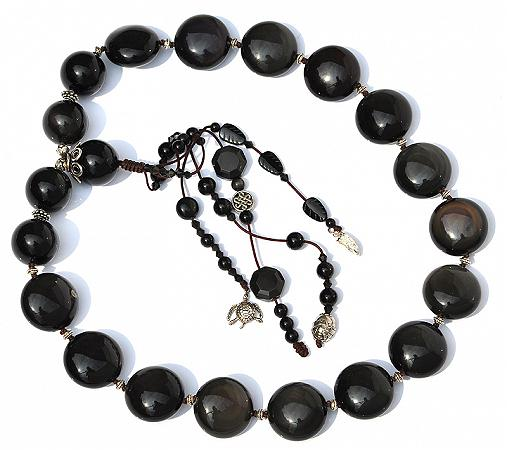 Obsidian Pebble Necklace