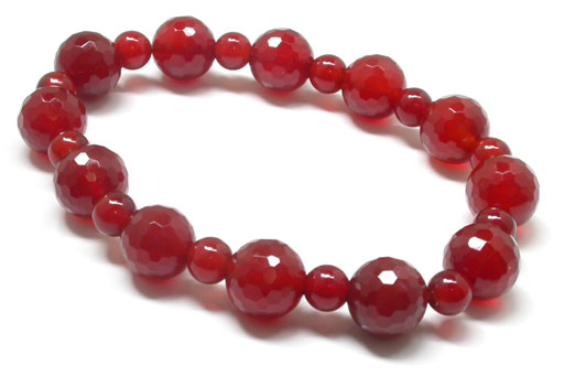 Agate Faceted Beads Bracelet
