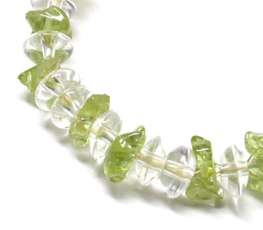 Clear Quartz and Peridot Bracelet
