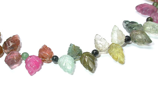 Tourmaline Maple Leaf Necklace