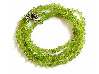 Irregular gravel Peridot Necklace